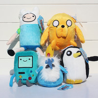 Adventure time Plush Toys 5style Jake Finn Beemo BMO Penguin Gunter Ice king Stuffed Animals Plush Dolls Soft Toys