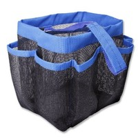 SySrion® Brand Shower Caddy - Oxford Pouch Shower Bag,Mesh Storage Carry -Quick Dry - Large Pockets To Carry Your Bathroom Accessories And Mirror ,Blue