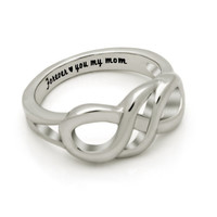 """Mother Ring Double Infinity Mothers Day Gift """"Forever Love You My Mom"""""""