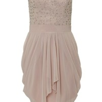 Lipsy V I P Bandeau Drape Skirt Dress