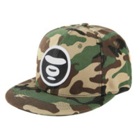 Bape Aape New fashion camouflage couple cap hat Black