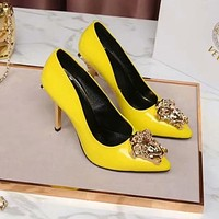 Versace Women Fashion Casual Pointed Toe High Heels Shoes