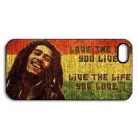 Bob Marley Quotes Vintage case for iPhone 5 / iPhone 5 case hard cases / Iphone 5 Design / printed on its back face and its curve side
