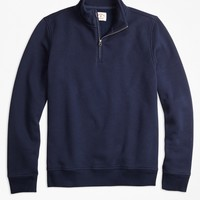 Half-Zip Pique-Fleece Sweatshirt - Brooks Brothers