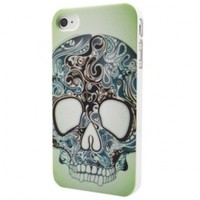 Tattoo Patterned Skull Snap-on Hard Back Skins Shell Case Cover for iPhone 4 4S