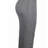 High-Waisted Solid Color Bodycon Knitted Women's Skirt