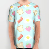 Cute Breakfast All Over Print Shirt by Adorkible