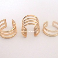 Set of 3 - Chic Egyptian Ling Ring