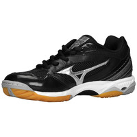 Mizuno Women's Wave Hurricane Volleyball Shoes - Black Silver
