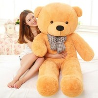 Large Size 60cm 80cm 100cm 120cm Stuffed Teddy Bear Plush Toy Big Embrace Bear Kids Doll Lovers/Christmas Gifts Birthday gift