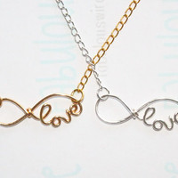 Love Infinity Necklace, Lover necklace, Bestfriend Jewelry