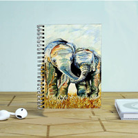 Two Elephants Photo Notebook Auroid
