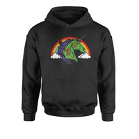 Unicorn Zombie With Rainbow Youth-Sized Hoodie
