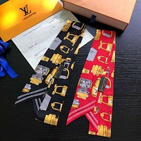 LV Louis Vuitton Tide brand scarf scarves women's hair band straps