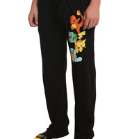 Pokemon Starters Guys Pajama Pants