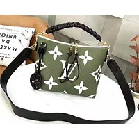 LV hot selling lady's print shopping bag fashion Mosaic color shopping bag Green