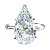 Pear Shape GIA 5.01ct Diamond Ring