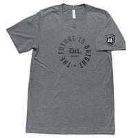 The Future is Bright Tee - Gray/Black