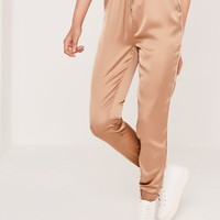 Missguided - Satin Cuffed Jogger Rose Gold