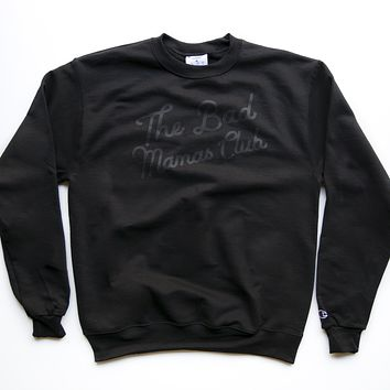BAD MAMAS CHAMPION CLASSIC TILT BLACKOUT SWEATSHIRT