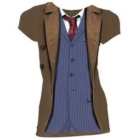 Doctor Who: Costume T-Shirts: 10th Doctor (Skinny Fit)