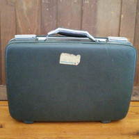 Vintage Small Grey American Tourister Tiara Hardside Suitcase