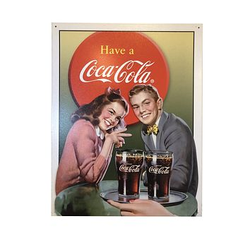Coca-Cola Date Vintage Tin Poster