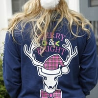 Jadelynn Brooke: Merry and Bright Long Sleeve {Navy}