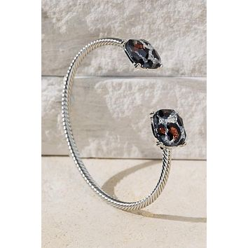 Faceted Glass Leopard Bracelet