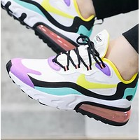 NIKE Air Max 270 React Trending Couple Casual Air Cushion Sport Running Sneakers Shoes
