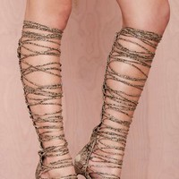 Jeffrey Campbell Advent Lace-Up Leather Heel