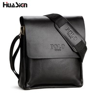 New 2017 Hot Selling High Quality Leather POLO Men Messenger Bags Crossbody Bags Men's Shoulder Bag