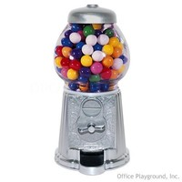 Gumball Machine - Metal 9 inch Silver