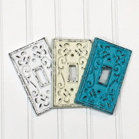 Light Switch Cover/ Nursery Wall Decor/ Light Switch Plate/SSLID0105/Decorative Cover/ Outlet Cover/ Shabby Chic/ Metal Plate Cover