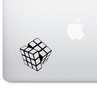 Retro Rubix Cube Mascot Macbook Decal | Applicable to Car, PC and More! | Nerd Gift, Gaming, Millennial, Nostalgia, 90s, 1990s Decals