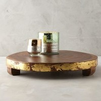 Gilded Timber Display Tray by Anthropologie in Gold Size: One Size Decor