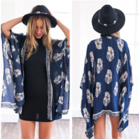 Bikini Beach Cover Up Print Bathing Suit Swimsuit