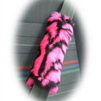 Pink Tiger faux fur single shoulder strap pad