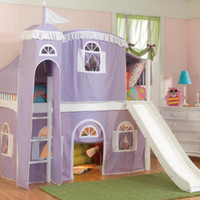 Lilac Lane Castle Midhigh Loft Bed | Totally Kids
