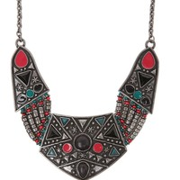 With Love From CA Beaded Stone Tribal Necklace - Womens Jewelry - Multi - One