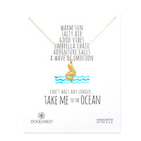 take me to the ocean mermaid necklace, gold dipped - Dogeared
