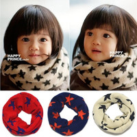 New girl and boy fall/winter tiny star children's knitted ring scarf(3 colors) = 1957964036