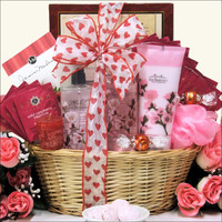 Valentine's Day Cherry Blossom Spa Retreat Gift Basket