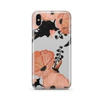 Peachy Floral - Clear TPU Case Cover