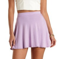 Jersey Knit Skater Skirt by Charlotte Russe
