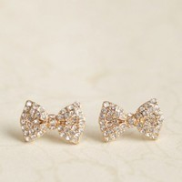 dolled-up bow earrings at ShopRuche.com