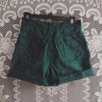 Emerald high waisted shorts