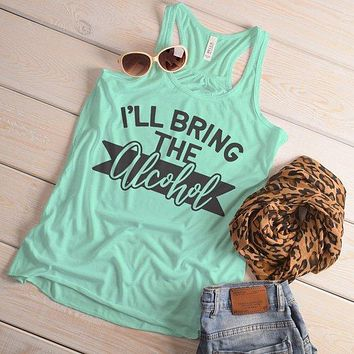 Women's Matching Party Tank Bachelorette Party TShirt Best Friends Bring Alcohol Top