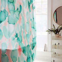 Jacqueline Maldonado For Deny Paddle Cactus Shower Curtain   Urban Outfitters