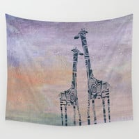 giraffes Wall Tapestry by Marianna Tankelevich